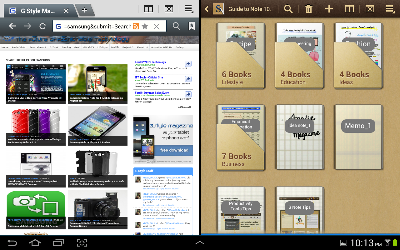 Samsung Galaxy Note 10.1 – Internet and S Note Templates | G Style ...
