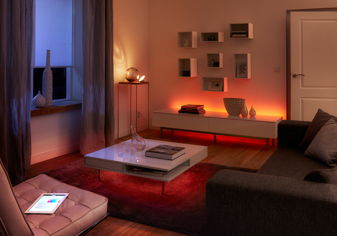 set the mood with philips hue personal wireless lighting bbyconnectedhome g style magazine. Black Bedroom Furniture Sets. Home Design Ideas