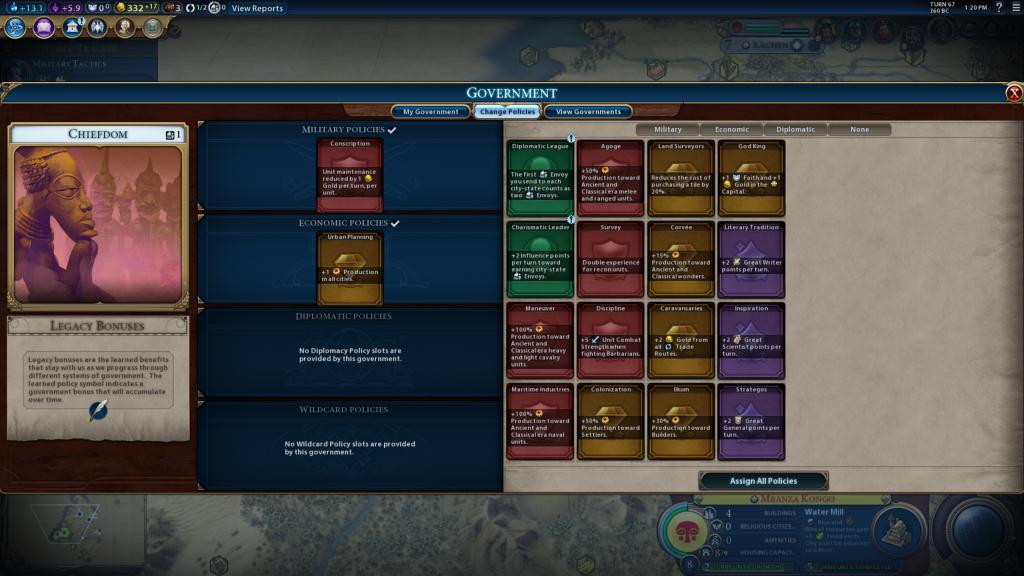 Civilization VI Government